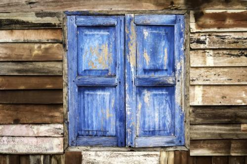 a vela in grecia - blue door