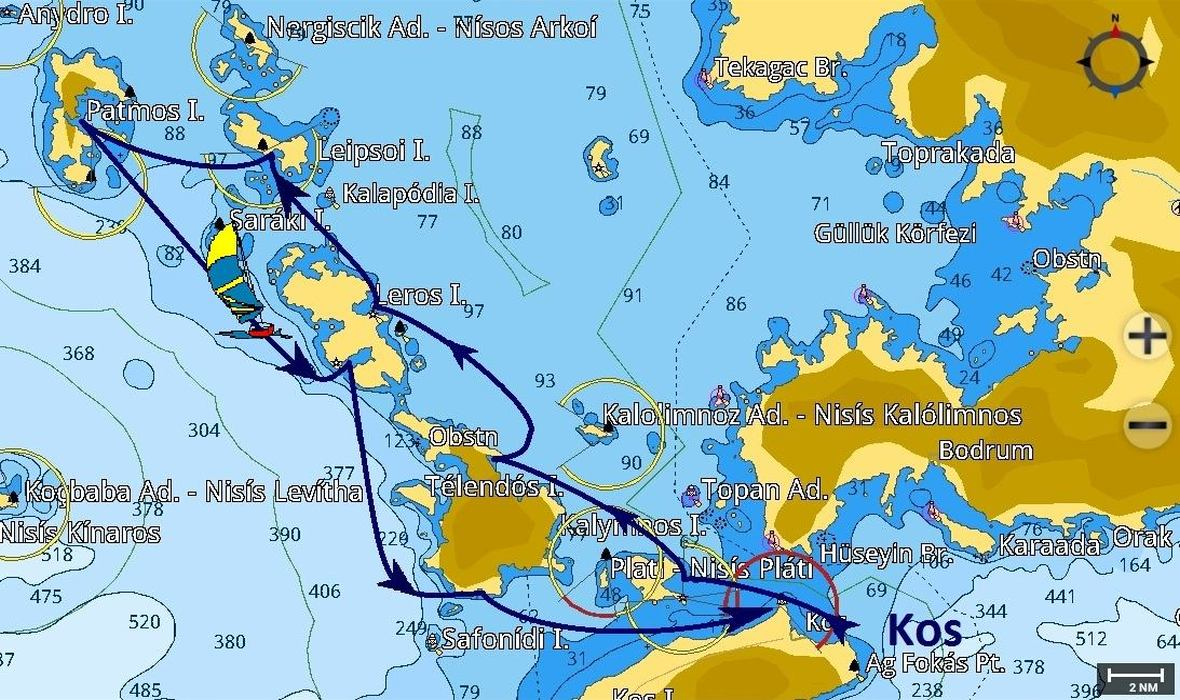 Kos-Patmos-Kos Pagina Itinerari/08-26-2018